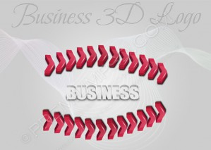 Red Business 3D Logo – PSD Download