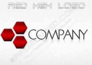 Red Hex Logo Design – PSD Download