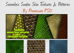 Seamless Snakes Skin Textures and Photoshop Patterns –  Download