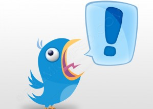 Shouting Twitter Bird – PSD Download