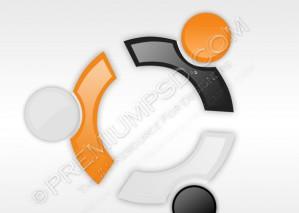 Ubuntu Glossy Logo Design – PSD Download