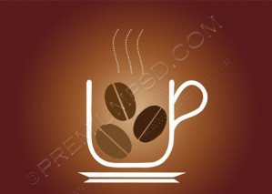 Vector Tea Cup Logo – PSD Download