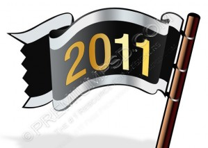2011 Year Vector Flag Icon – PSD Download