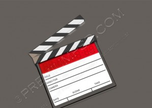 3D Action Clapboard Icon – PSD Download