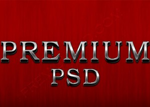 3D Metallic Silver Text – PSD Download