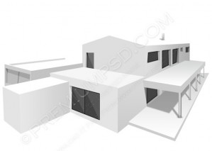 3D White House Model – PSD Download