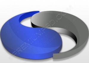 3D Ying And Yang Design – PSD Download