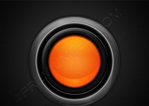 Big Orange Futuristic Orb – PSD Download