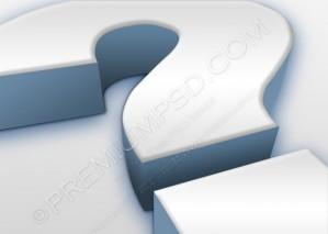 Big Question Mark Design – PSD Download