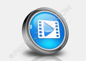 Clip Or Streaming Icon – PSD Download