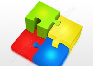 Colorful 3D Jigsaw Puzzle – PSD Download