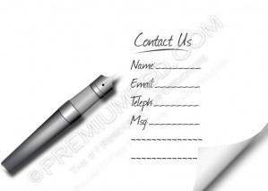 Contact Us Form Template – PSD Download