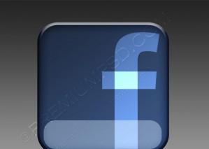 Dark Facebook logo Design – PSD Download
