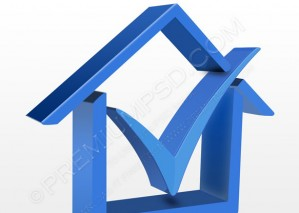 House Symbol with Check Mark Icon – PSD Download