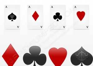 Playing Cards/Aces Design – PSD Download