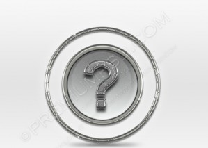 Question Symbol Gray Icon – PSD Download
