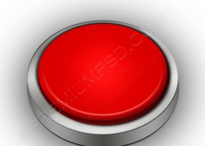 3D Red Blank Button – PSD Download