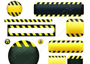 Reflective Warning Strips & Buttons – PSD Download