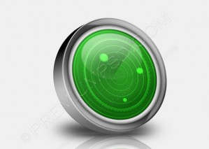 Round Metallic Radar Icon – PSD Download