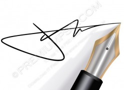 Signing with a fountain Pen – PSD Download