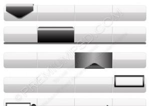 Silver Navigation Menu Bars – PSD Download