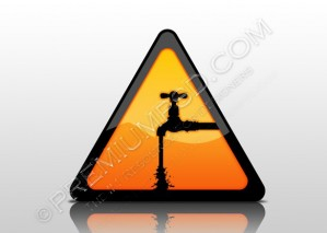 Water Warning Icon Reflection – PSD Download