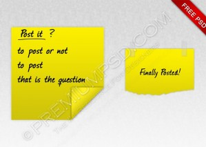 Yellow Post It Note – PSD Download