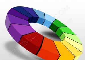 3D Color Wheel Design – PSD Download