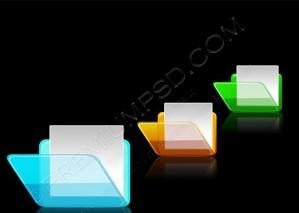 3D Folder Icons – PSD Download