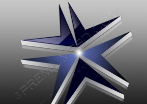 Abstract Design, 3D Glossy Dynamic Star – PSD Download