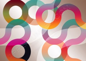 Abstract Rainbow Circles Design – PSD Download