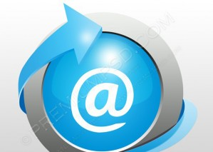 Blue E-mail Icon – PSD Download
