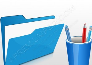 Blue Office 3D Icon – PSD Download