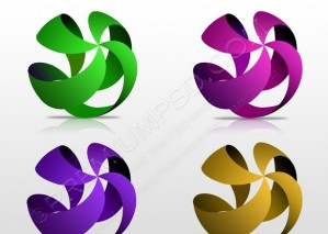 Color Four Striped Wire Frame Spheres – PSD Download