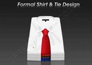 Formal Shirt & Tie Design – PSD Download