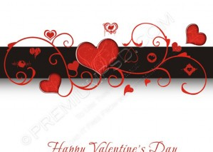 Heart Valentines Day Background – PSD Download