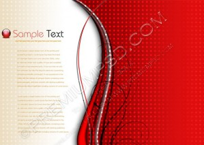 Red Background Composition – PSD Download
