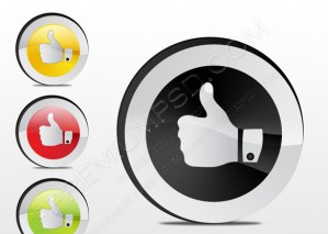 Thumbs Up Gesture Vector – PSD Download