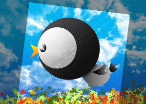 Tweety Flying Wallpaper – PSD Download