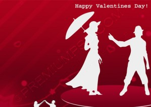 Valentines Day Wallpaper – PSD Download