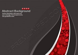 Black Background with Transparent Random Red Cells – PSD Download