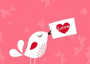 Vector Love Bird & Card Wallpaper – PSD Download