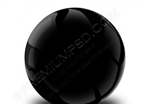 3D Black Sphere Design – PSD Download