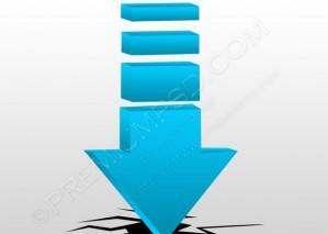 3d Blue Arrow Crash Concept – PSD Download
