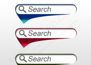 3d Glossy Search Icon – PSD Download