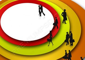 Abstract Background With Business People – PSD Download