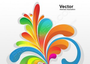 Abstract Colorful Floral – PSD Download