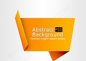 Abstract Origami Speech Bubble – PSD Download