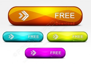 Colorful Glossy Download Buttons – PSD Download