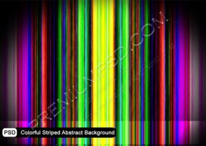 Colorful Striped Abstract Background – PSD Download